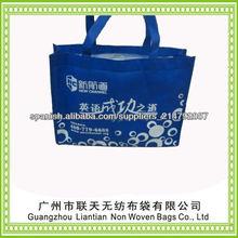 barato costumbre no tejidas bolsa ecológica para shoppping
