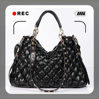 Europe new style hot sale plaid PU femal versatile shoulder bag,classic black women handbags bags for women 2013