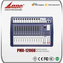 Lane 12 channel USB professional mixing console/video mixer PMX-1206U