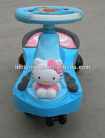 factory direct sell Hello kitty kids musical swing car/ride on toy car