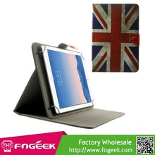Paypal Accepted Universal Leather Flip Case for 10.1-Inch / 9.7-Inch Tablet w/ Stand , Size: 279 x 180mm - Retro Union Jack