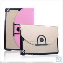 High Quality Color Matching Detachable Classical Multi Usage Rotating Leather Case for iPad Mini 2/3