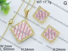 Fashion jewelry new product goal jewelry set