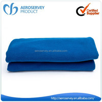 High Quality plain dyed thick airline bulk soft mexican blanket