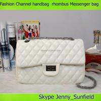 Trendy messenger bag shoulder bag metal chain rhombus channel handbag
