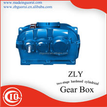 ZLY two stage 1:10 ratio helica Hardened speed reducer /gearbox for Driving and Metallurgical Machinery
