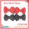Wholesale CF0136 Polka dots fabric bow shoe clips decorative shoe clip