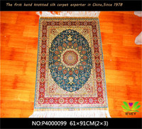 100% Silk carpet hand-knotted custom size modern art design 2x3 silk oriental rugs