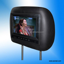 """hot!!! 7"""" andriod taxi headrest advertising player Cigar lighter connect usb lcd video display"""