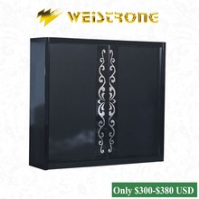 2015 Cheap Chinese furniture black color 2.65*2.2m modern metal wardrobe with 2 slidng doors in Foshan furniture market