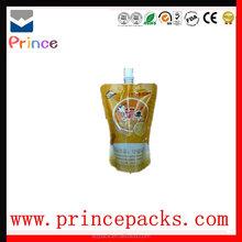 High quality juice drinks pouch bag,aluminum foil fruit juice bags,juice bag with spout