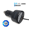 Handsfree Bluetooth A2DP 3.5mm AUX Stereo Audio Receiver Adapter USB Car Charger for iPhone 5, 5S, 6, Samsung Galaxy S5 S4