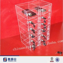 acrylic box or acrylic display case with security lock , mobile phone cases