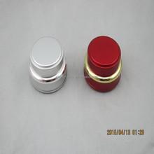 Ceramic cosmetic jars/aluminium shinning silver cream jar 15g,30g,50g