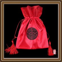 Economic most popular design christmas silk pouches