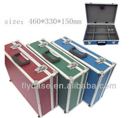 popular aluminum hard suitcase/aluminum tool case with documents or other