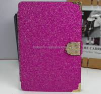 2014 china manufacturer glitter leather case for ipad