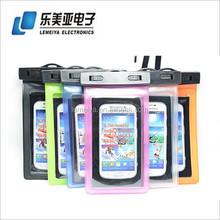 Underwater PVC 5.5 inches Diving hiking swimming Bag cell phone Waterproof phone bag for iphone 5 5S for samsung S4 S5