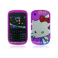 Mesh Combo Mobile Phone Case with design for Blackberry Curve 8520/9300