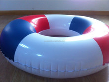 Portable new design swim ring inflatable three color swim ring