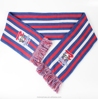 acrylic knitted embroider logo scarf
