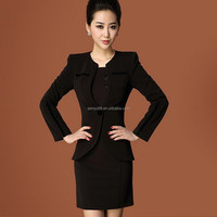 2015 New Formal office woman suits/ladies designer skirt suits OEM
