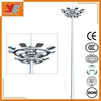 Hot dip galvanizing and durable 10 meters lighting pole