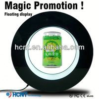 Most Attractive ! Magnetic Floating display stand for plastic bottle ,french bottled water brands