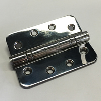 Stainless Steel 4 inch 2 ball bearing door hinge with Radius