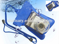 PVC Underwater Case Dry Bag Swimming Beach Holiday--BLUE color waterproof bag for digital camera