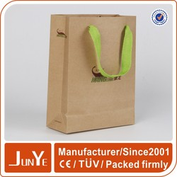 Brown gift small size paper wine bags with customized logo