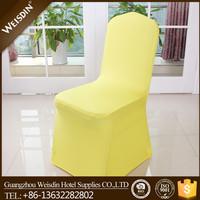 Hot sale colorful plain wedding banquet spandex cheap chair cover