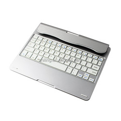 keyboard leather case for ipad air Rotatable Bluetooth keyboard with Aluminum tablet case