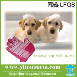 Comfortable Pet Grooming Tools Silicone Dog Bath Brush/Massage Glove