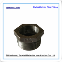 Black Malleable bushing M&F,Galvanized malleable iron pipe fitting