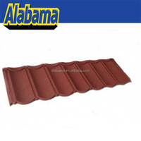 Professional manufacturer and exporter colored sand coated steel roof tiles, blue spanish roof tile supplier