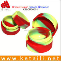 High quality small round silicone powder container various color and shape available