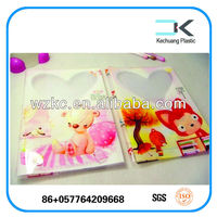 Printed school plastic protective designed book cover with handles