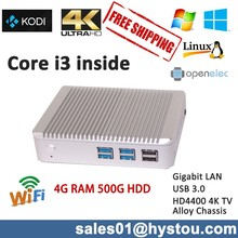 intel cor ei3 4010U Brand new case pc,dual display mini pc OpenELEC XBMC compatible support 4K resolution used as tV box