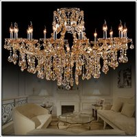 Fashionable Design Modern Style Crystal Amber Chandelier Lamp Candle Light MD8477 L17