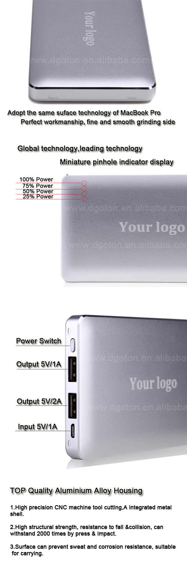 2015 newest high quality 8000mAh power bank