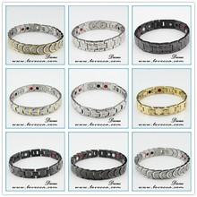 New arrival 2015 fashion healthy design jewelry germanium,negative ion,magnetic women white ceramic bracelet
