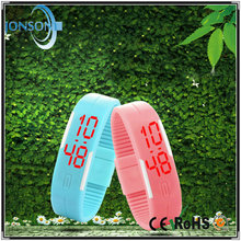 Bulk in stock watch cheapest digital led touched clean rubber watch strap