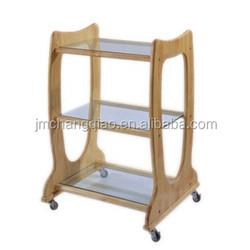 Solid Wood Beauty trolley car/massage trolley cart/trolley cart