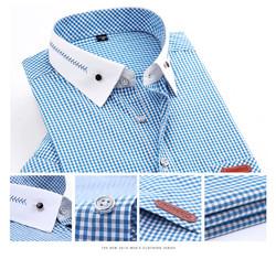 Summer style 2015 men's plaid shirts Cheap short sleeve men casual dress shirt,Plus Size XXXL