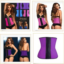 Newest 2015 Women Rubber Latex Waist Training Cincher Underbust Corset Body Shaper