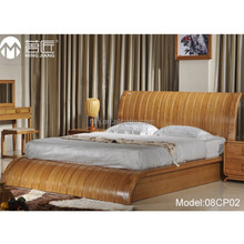Model:08CP02 Elegant designer fashion bamboo material solid wood double bed designs