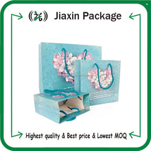 2015 customized printing paper shopping package bags for gift wholesale