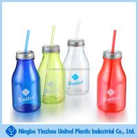 300ml plastic milk bottle drinking jar