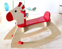 New design wooden baby rocking horse toy